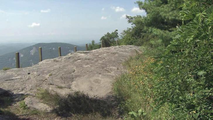 Nearly a mile above sea level, Whiteside Mountain is popular with rock climbers and those seeking awesome views.<br/>Photographer: Richard Adkins