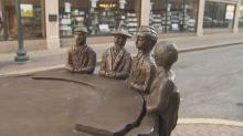 IMAGES: Coffee sculptures salute Greensboro sit-in
