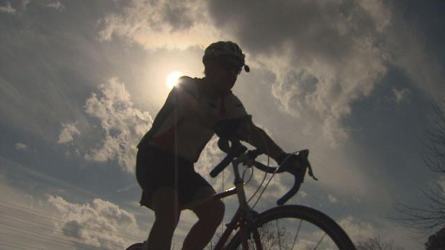 At age 74, Tom Martin, of Raleigh, has biked more than 100,000 miles in the last 19 years.