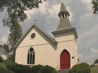 The line between Stokes and Forsyth counties runs right through a Germanton church. WRAL's Tar Heel Traveler has the story of the little church's history and the debate about its future.
