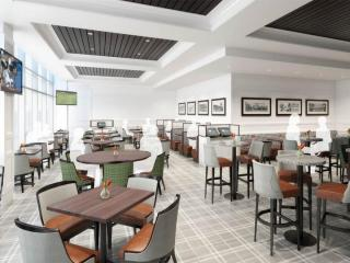An artist's rendering of the ACC American Cafe planned for Terminal 1 of the Raleigh-Durham International Airport.