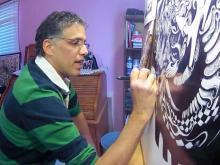 Sharpie artist makes his mark