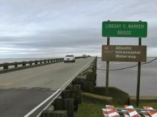 Drawbridge repairs on Outer Banks
