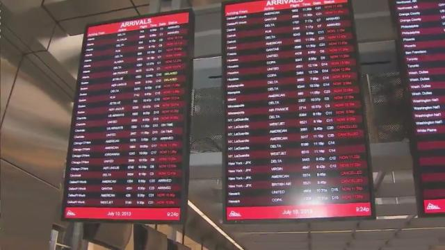 Stormy weather in the Northeast and other areas of the country is making a major impact on travelers at Raleigh-Durham International Airport.