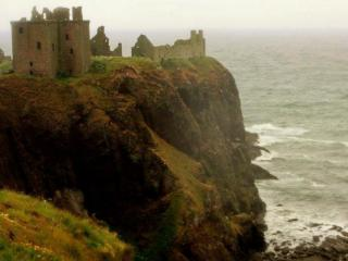 Dunnottar in the distance
