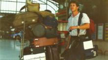 WRAL photographer Rick Armstrong arrives in Scotland in 1986.