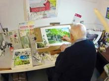 A coastal artist far from the coast