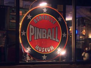 The Asheville Pinball Museum features 35 pinball machines collected by owners T.C. and Brandy Dibella, and visitors can play as much as they want for $10.