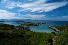 Coastal scene along famous Ring of Kerry in Ireland