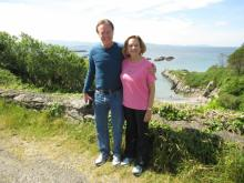 Bill & Cindy Leslie soaking up the scenery on the Ring of Kerry. (Bill Leslie/WRAL)