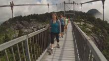 IMAGES: Swinging bridge the big attraction at Grandfather Mountain