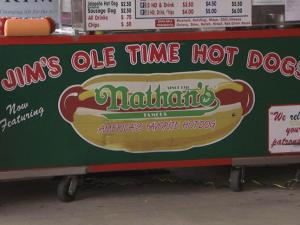 Jim's Ole Time Hot Dogs, a stand outside a Lowe's store in Cary, offers people a chance to grab a bite while picking up home improvement supplies.