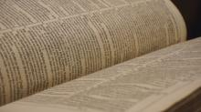 The Luther Bible, a copy of a translation by Martin Luther, dates to the 1600s.