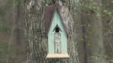 IMAGES: Man creates birdhouses out of dilapidated buildings