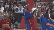 IMAGES: Late game heroics lead Barton College player to Harlem Globetrotters