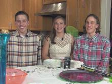 Triplets celebrate their Sweet 16