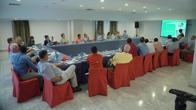 The NC delegation during a meeting at the hotel, Melia Habana.