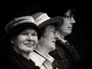 Three women in Ireland. (Photo by John Hall)