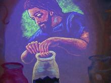 Chalk drawings are Kenly pastor's visual sermons