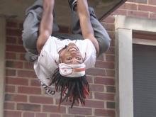 Parkour athlete climbs to new heights