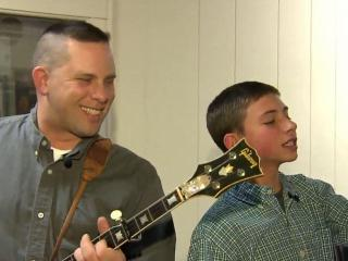 Father and son band from Mount Airy perform bluegrass