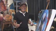 IMAGES: Raleigh artist sold art out of his car before reaching worldwide clientele
