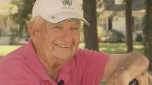 IMAGES: Putting green dedicated to 100-year-old golfer