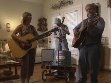 Gut bucket and guitars make music in Haywood County