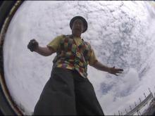 Stilt walker has unique perspective on NC State Fair