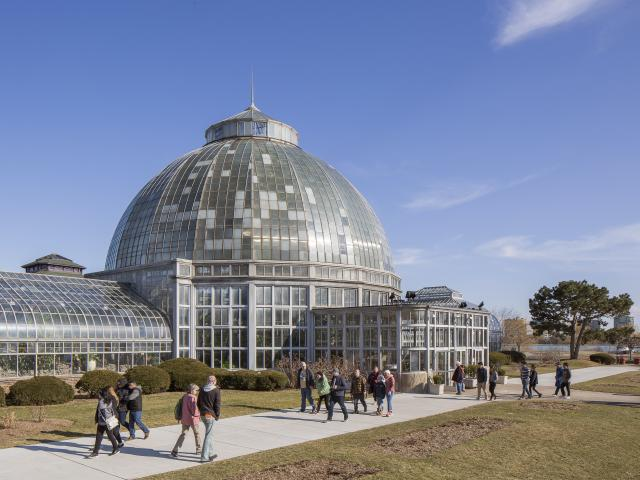 The Anna Scripps Whitcomb Conservatory on Belle Isle in Detroit, March 2018. From the Fisher Building to Belle Isle (and beyond), the works of the renowned Albert Kahn endure in Detroit. (Kevin Miyazaki/The New York Times)