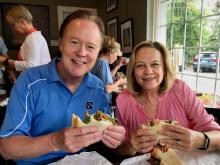Bill and his wife, Cindy, eating at Merritt's