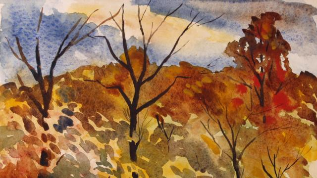 Watercolor painting by Bill Leslie's father