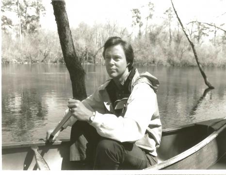 Bill Leslie canoeing