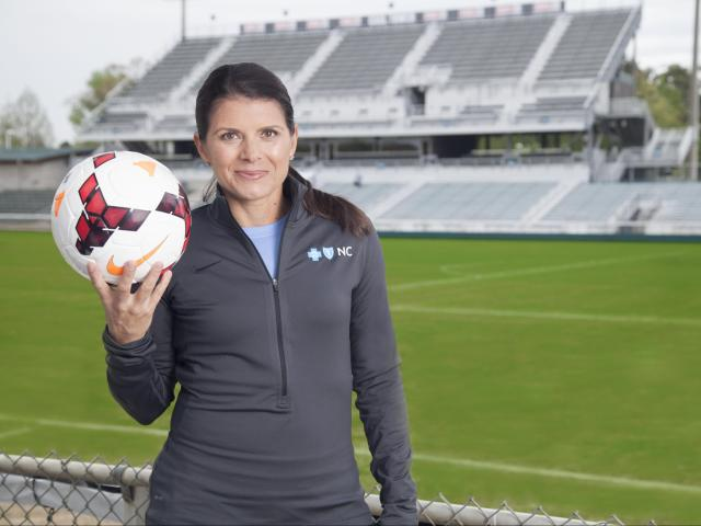 Two-time Olympic Gold Medalist Mia Hamm says her experience playing softball and basketball as a child benefited her soccer career.