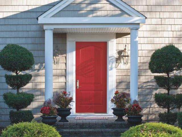 If homeowners want to go all in on hockey season (or have been looking for an excuse to upgrade), they can tell the entire neighborhood with a bright red front door.