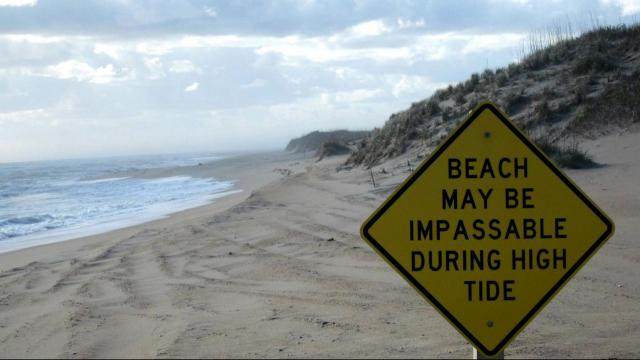 On the Outer Banks, off roaders can drive along the shores of Cape Hatteras by taking one of the 17 vehicle access ramps.