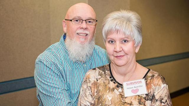 Retired paramedic John Averitte with his wife, Helen, whose life was saved through the administration of a new cardiac arrest protocol. (Photo Courtesy of Cape Fear Valley Health)