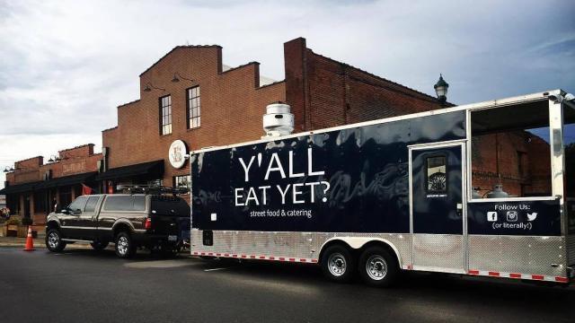 Y'All Eat Yet? food truck outside 217 Brew Works in Wilson. (Matt Shaw/City of Wilson)