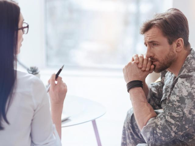The Substance Abuse and Mental Health Services Administration found that 18.5 percent of service members returning from Iraq or Afghanistan suffer from post-traumatic stress disorder. (Yacobchuk/Big Stock Photo)