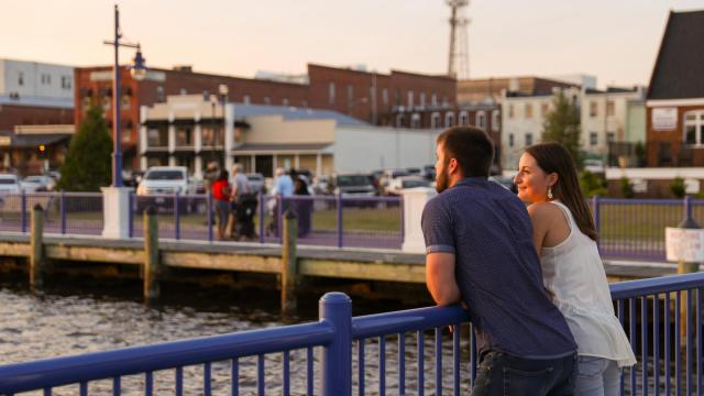 Being positioned on the Pamlico River, Little Washington has some of the most idyllic spots you'll find anywhere to spend with your significant other. (Photo Courtesy of Washington Tourism Development Authority)