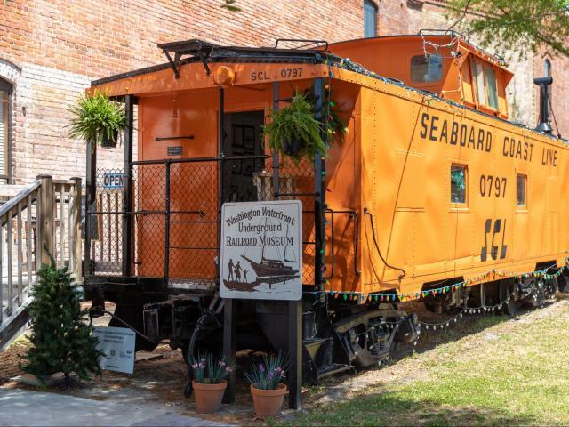 The Washington Waterfront Underground Railroad Museum is housed in a refurbished railroad car near Little Washington's civic center. (Photo Courtesy of Washington Tourism Development Authority)