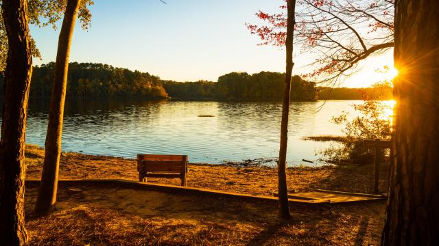 The 365-acre Lake Benson, located in Garner, offers boating and fishing opportunities thanks to a town-operated boathouse. (Photo Courtesy of Chris Baucom)