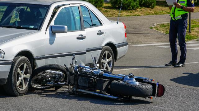 Because motorcycles are smaller and more easily hidden by objects like cars, trees and elements like darkness, other vehicles are less likely to see them coming. (zigmunds/Big Stock Photo)