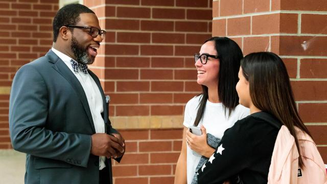 The opportunity to be the first principal at South Garner High School was exciting to Roderic Brewington, and having taught in the area years prior, he already had an established attachment to Garner. (Photo Courtesy of Wake County Public Schools System)