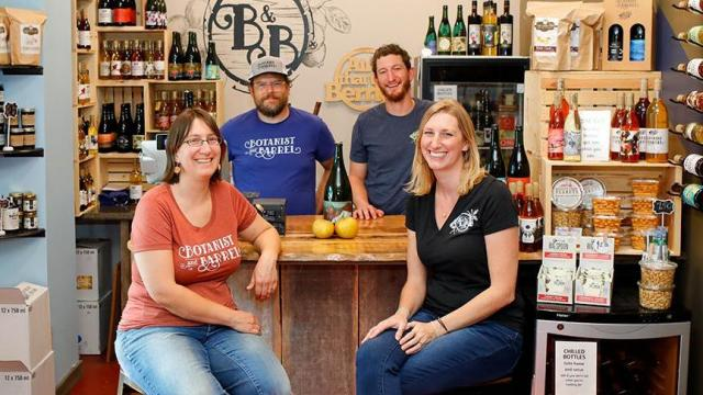 At Cedar Grove Blueberry Farm and their cidery and winery, Botanist & Barrel, the Smith family has created an agritourism destination just outside of Hillsborough. (Photo Courtesy of Visit Hillsborough NC/Walter Magazine)