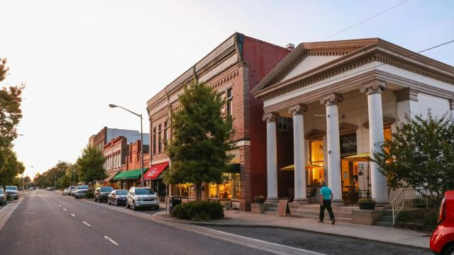 Construction on a nearly $4 million streetscape project in downtown Washington started in April 2020. The initiative will update infrastructure for water, sewage, and electricity down a two block stretch of Main Street, as well as improve the overall aesthetic.  (Photo Courtesy of Washington Tourism Development Authority)