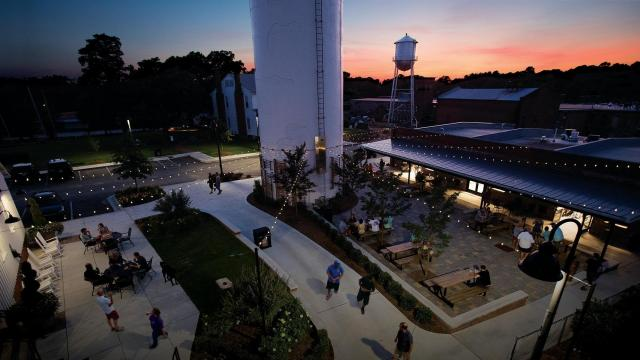 In Nash County, Capitol Broadcasting Company has transformed the centuries-old Rocky Mount Mills into a mixed-use destination, filled with office space, breweries, residential units, and more. (Photo Courtesy of Nash County Economic Development)