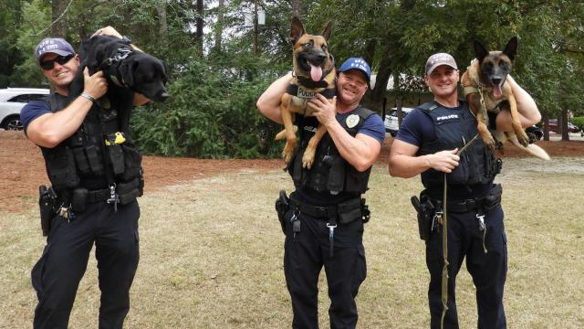 Training dogs in the K9 unit, responding to mental health calls late at night, expecting the unexpected on daily patrols -- for those who work in law enforcement in the Triangle, every day is different. (Photo Courtesy of the Southern Pines Police Department)