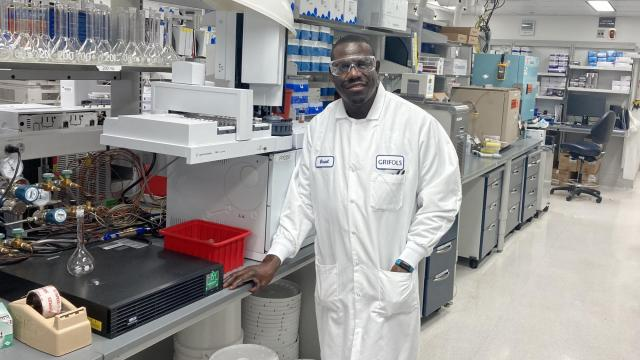 After losing his sister to illness in his native Jamaica, Oneal Campbell came to America to pursue a career in biopharma so he could help make life-saving medicines. (Photo Courtesy of BRITE)