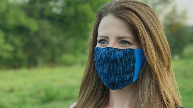 Easy Masks, a local face mask company, produces proprietary double-layer nylon masks. These masks tested second only to the gold-standard N95 medical mask according to a recent study. (Photo Courtesy of Easy Masks)